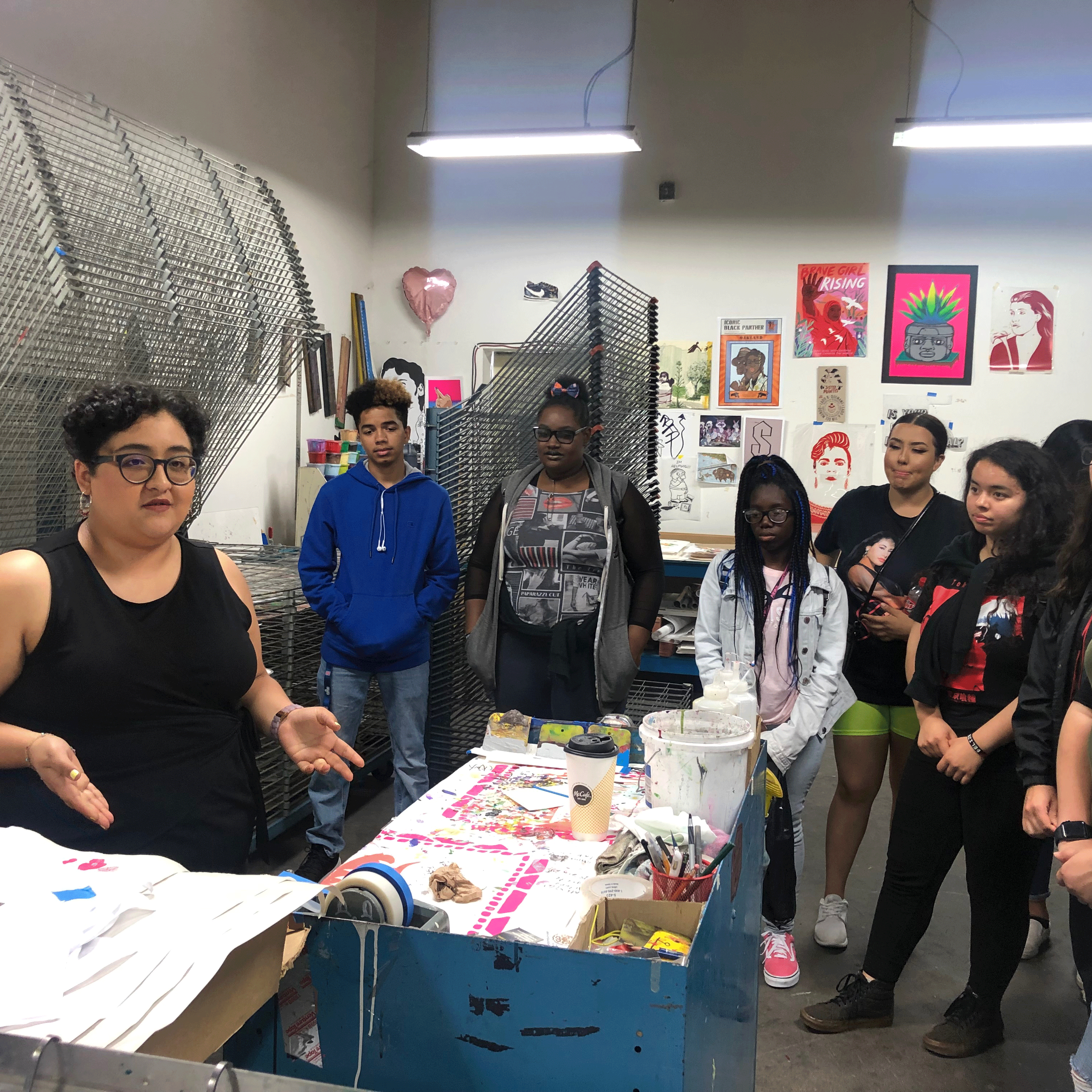 Students at Self Help Graphics, an opportunity for career exploration